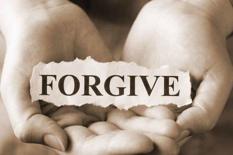 Forgive, hands open